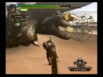 Monster Hunter Tri Trapping Diablos with a Sonic Bomb